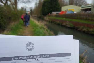 A Beds River Warden Scheme form in the field